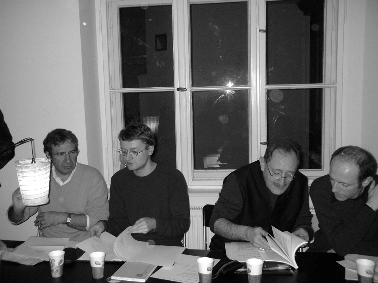 Soirée de lectures à Berlin (2005) à la librairie française Zadig, avec la participation de Pierre le Pillouër, Renatus Deckert, Eric Sarner