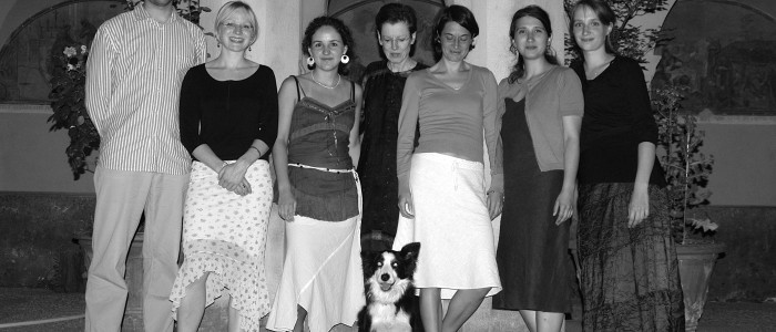 Le groupe des traducteurs et traductrices participants à l'atelier animé par Ulrike Bokelmann, Saorge 2006.