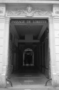 L'entrée au passage de lorette