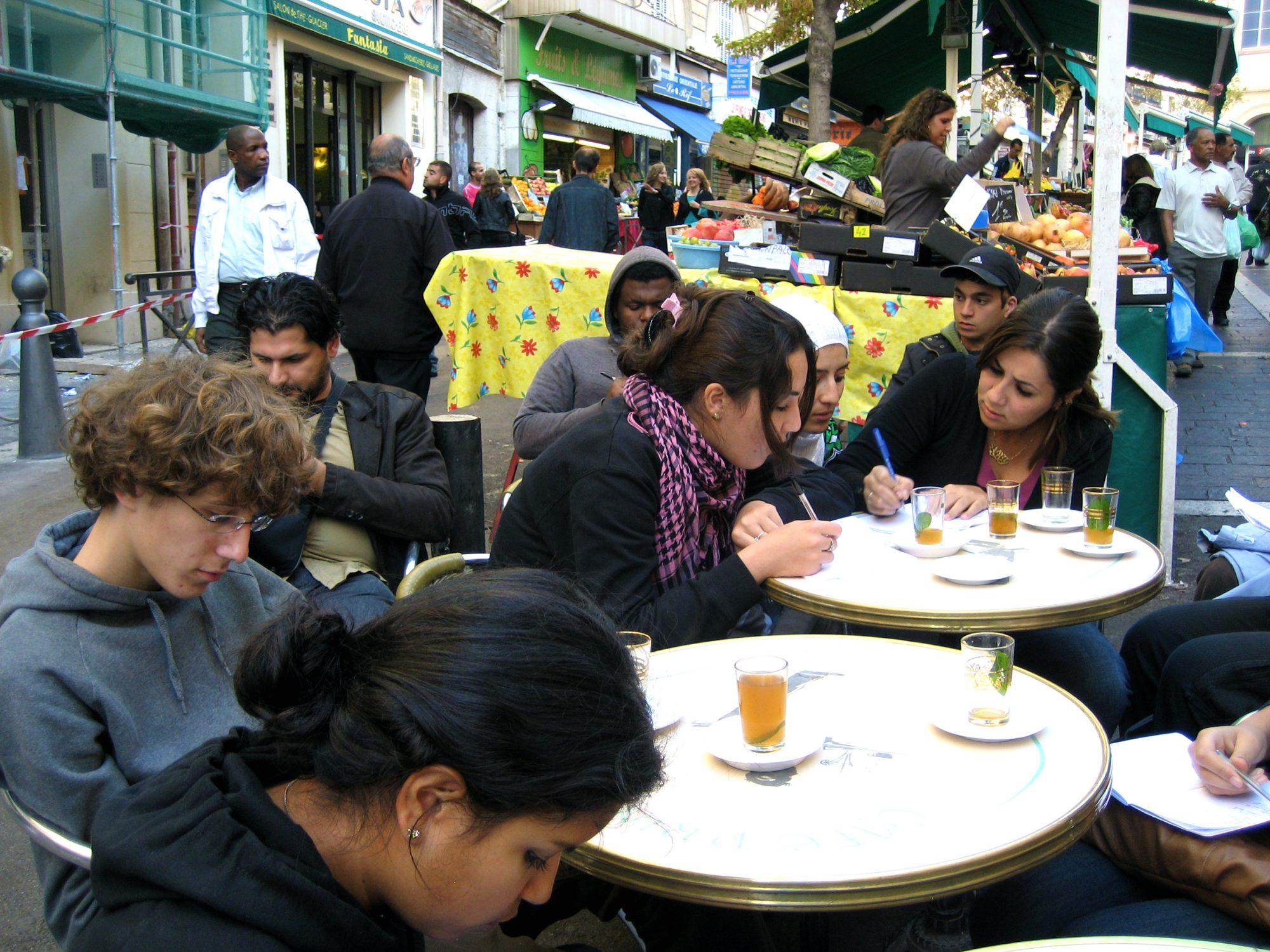 Atelier d'écriture dans le quartier Noailles, Marseille 2009